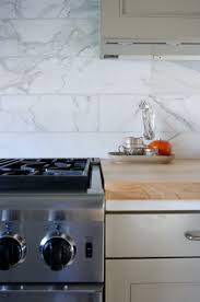 6 x 24 marble tile backsplash kitchen ideas pinterest wood
