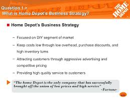 home depot marketing plan home depot marketing plan question 4 5 6 question 1 what is home