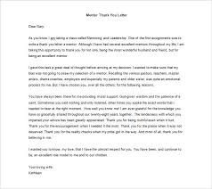 thank you letter to mentor u2013 9 free sample example format