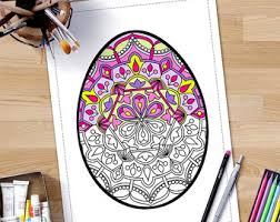 easter egg mandala coloring pages adults zentangle easter