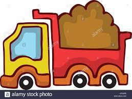 vector cartoon dump truck design for kids collection stock vector