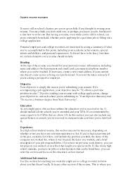 resume for college application objectives some college resume free resume exle and writing download