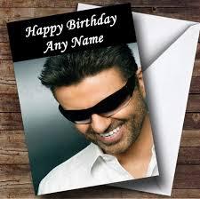 george michael happy birthday george michael personalised birthday card the card zoo