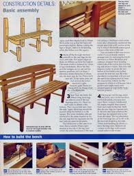 Wooden Bench Seat Plans by Bench Seat Plans U2022 Woodarchivist