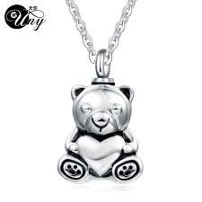 ashes pendant uny stainless steel teddy pet urn ashes pendant perfume