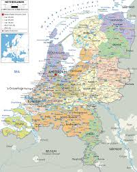 netherlands map detailed political map of netherlands ezilon maps