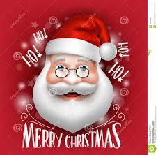 3d realistic santa claus greeting merry stock vector