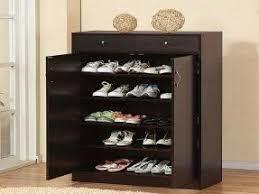 Shoe Cabinet Black Shoe Cabinet With Doors Foter