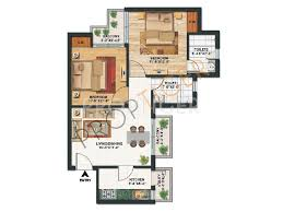 825 sq ft 2 bhk floor plan image paras tierea available rs