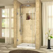 34 Shower Door Dreamline Unidoor Plus 34 In To 34 1 2 In X 72 In Semi