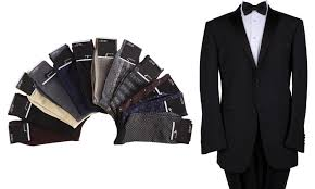 Tuxedo Socks Fellini Men U0027s 2 Piece Tuxedo Groupon Goods