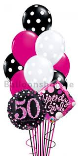 50th birthday balloon bouquets 50th birthday girl helium balloon bouquet delivery in dubai abu