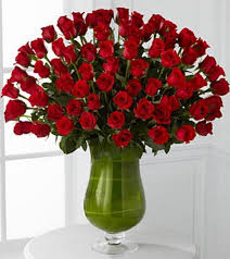 Red Flowers In A Vase Los Angeles Florist Flower Delivery By Flamingo U0027s Flower