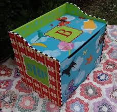 Diy Wooden Toy Box With Lid by Personalized Toy Box Custom Hand Painted Toy Chest Toy Box