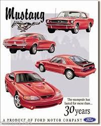 ford mustang metal wall ford advertising signs collection on ebay