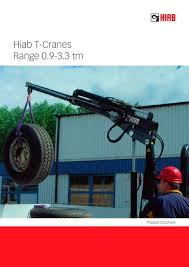 hiab t cranes range cargotec holding pdf catalogue