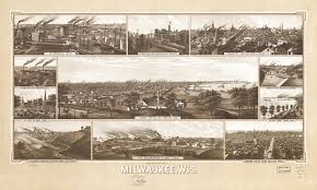 Wisconsin Scenic Drives Map 1882 Milwaukee Wisconsin From The Wisconsin Digital Map Library
