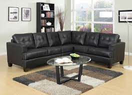toronto tufted black leather l shaped sectional sofa at gowfb ca
