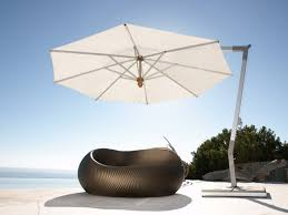 Patio Plus Outdoor Furniture by Furniture Cantilever Umbrella In White Plus Black Chairs Ideas