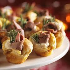 berry canapes mini puddings with beef and horseradish recipe from