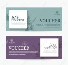 hotel gift card gift voucher template for spa hotel resort modern design