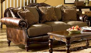 Claremore Antique Living Room Set Signature Design By Claremore Antique Sofa Fss Commerce