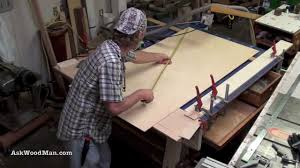 portable track saw table large capacity panel cutting using a festool track saw youtube