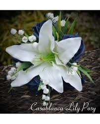 Casablanca Flower - lily flower bridesmaid bouquet stunning posy of ivory
