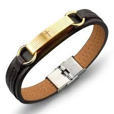 black prayer bracelet images Men 39 s leather lord 39 s prayer bracelet sophgent jpg