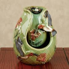 tabletop water fountains home depot in old hummingbirds porcelain