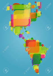north south and central america continent world map made of