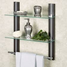 Wall Mounted Bathroom Shelves Bathroom Shelf Organizer Glass Towel Rack Bar Wall Mounted Holder