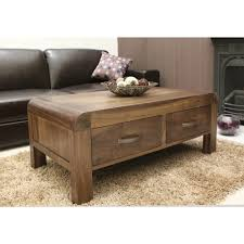 Walnut Wood Coffee Table Shiro Coffee Table Four Drawer Storage Solid Walnut Wood
