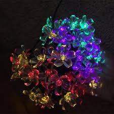 solar panel christmas lights 7m 50 led solar powered flower christmas lights for christmas