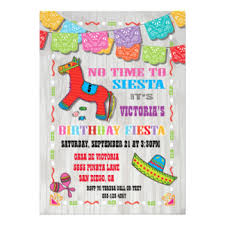 birthday party invitations mexican birthday party invitations announcements zazzle