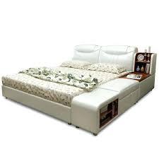 king size wooden bed frame with storage black varnished california