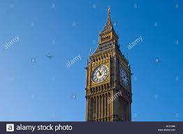Decorative Clock Horizontal View Of The Decorative Clock Face Of Big Ben With A