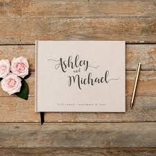 personalized wedding planner wedding guest book horizontal landscape guestbook sign in book