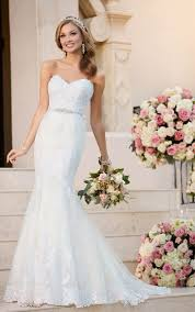 sweetheart neckline wedding dress fit and flare wedding dress with sweetheart neckline stella york