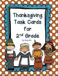 smiling and shining in second grade thanksgiving task cards freebie
