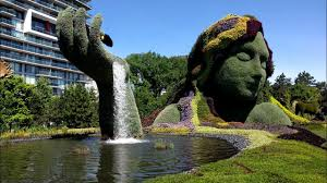 Topiarys Tour Of The Mosaicanada150 Topiary Sculptures In Jacques Cartier