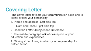 cover letter communication skills curriculum vitae and covering letter lecture ppt download