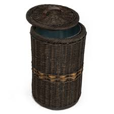 Bathroom Waste Basket by Ideas Wicker Trash Can With Lid Garbage Can With Lid
