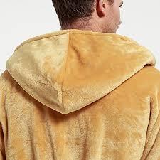 robe de chambre homme chaude dressvip homme robe de chambre peignoir de bain en polaire doux à