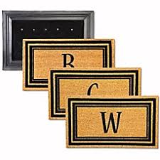Monogrammed Rugs Outdoor by Door Mats Rubber Mats Mohawk Mats U0026 Beach Mats Bed Bath U0026 Beyond