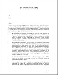 Non Disclosure Statement Template by Printable Sle Non Disclosure Agreement Sle Form