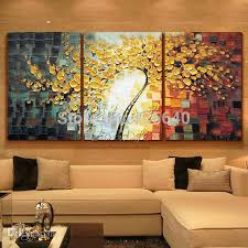 2017 wholesale oil painting 3 panel canvas wall art picture modern
