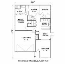 Master Bed And Bath Floor Plans by Ranch Style House Plan 3 Beds 2 00 Baths 1234 Sq Ft Plan 116 258