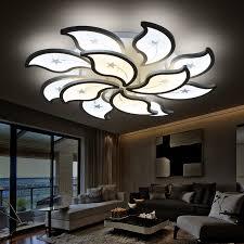 Living Room Ceiling Light Fixtures Aliexpress Com Buy Acrylic Flush Led Ceiling Lights White Light