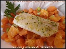 cuisine papillote recette papillote de cabillaud gingembre agrumes et patate
